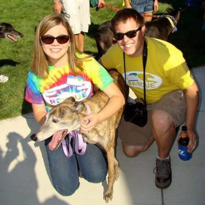 "Nicole, David and Amy (who won ""Oldest Dog"" at the AG Picnic that year"